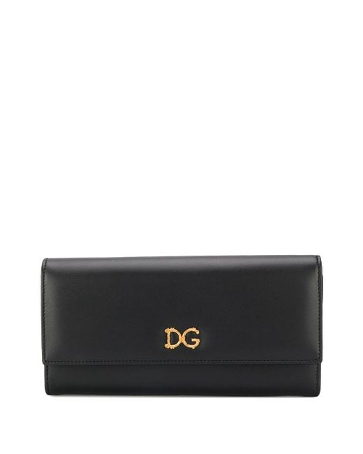 Кошелек С Логотипом Dg Dolce & Gabbana, цвет: Black