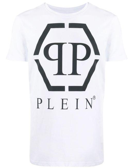メンズ Philipp Plein Pp ロゴ Tシャツ White