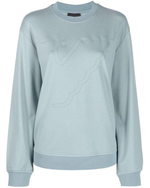 Emporio Armani ロゴ スウェットシャツ Blue