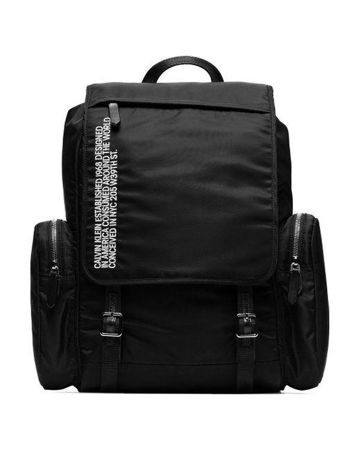 メンズ CALVIN KLEIN 205W39NYC ロゴ リュックサック Black
