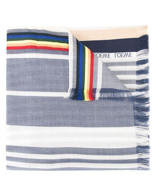Loewe ストライプ スカーフ Blue