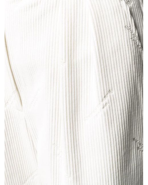 Alexander Wang ハイウエスト コーデュロイパンツ White