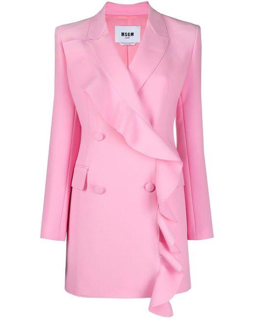 MSGM ラッフルトリム ドレス Pink