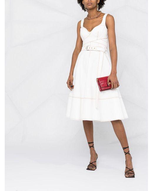 Alexander McQueen White Ausgestelltes Kleid