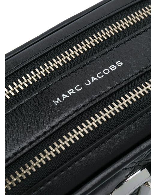 Marc Jacobs Schoudertas Met Logoplakkaat in het Black
