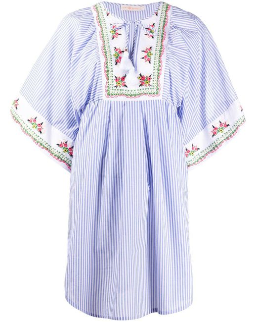 Tory Burch ストライプ チュニックドレス Multicolor