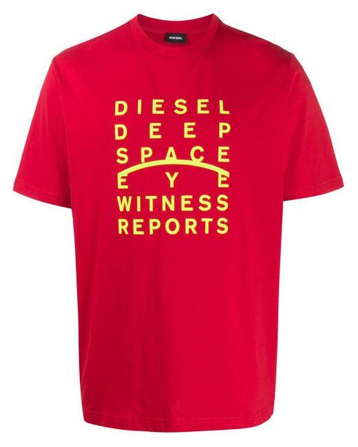 メンズ DIESEL T-just-j5 Tシャツ Red