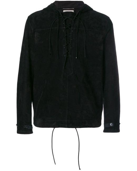 Куртка С Капюшоном Saint Laurent для него, цвет: Black