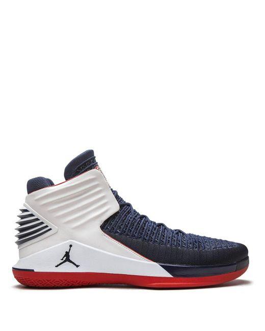 Nike Blue Air Xxxii Sneakers for men