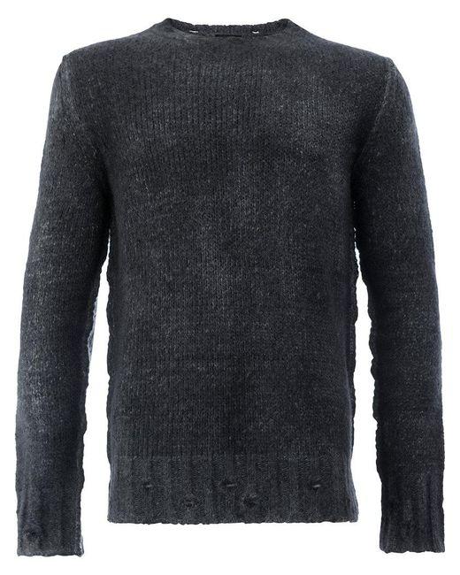 Avant Toi - Black Maglione Effetto Consumato for Men - Lyst