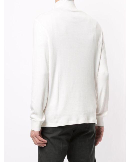 メンズ Kent & Curwen スタンドカラー ロングtシャツ White