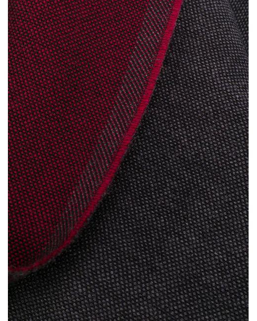 メンズ Dell'Oglio ウーブン スカーフ Gray