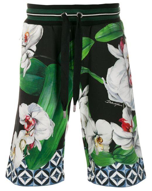 メンズ Dolce & Gabbana フローラル ショートパンツ Green