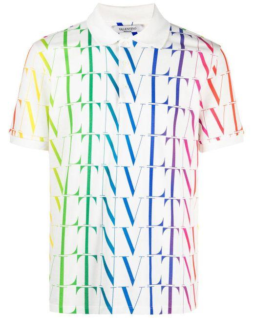 Polo à imprimé VLTN Valentino pour homme en coloris White