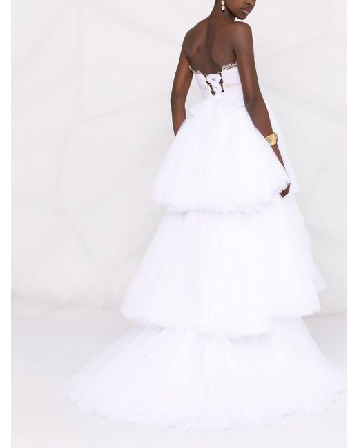 Maria Lucia Hohan Gianna ストラップレス ドレス White