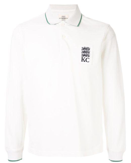 メンズ Kent & Curwen ロゴ ポロシャツ White