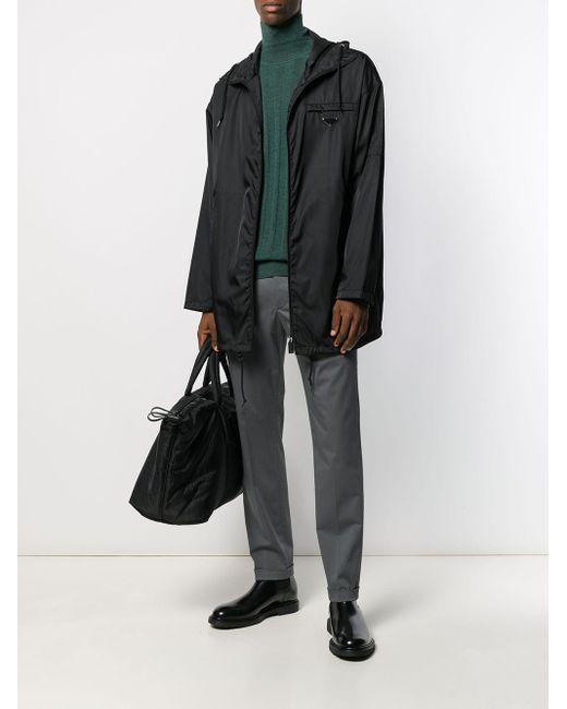 Pantalon droit à ourlet à revers Prada pour homme en coloris Gray