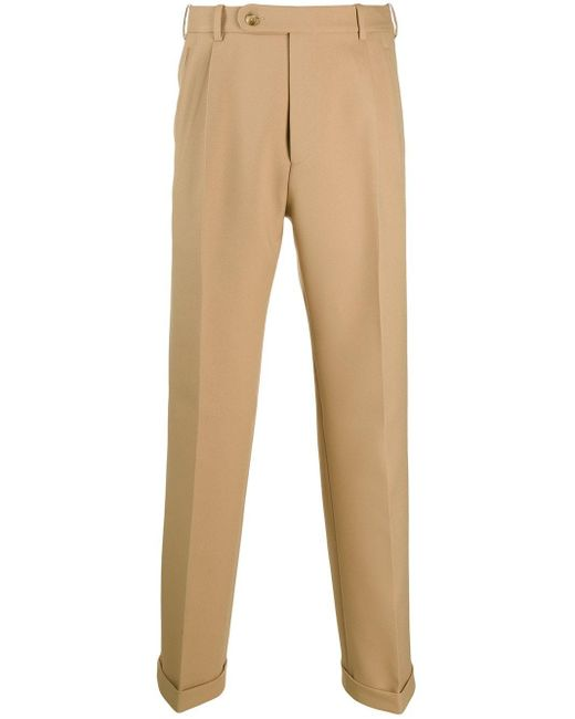 Gucci Brown Tailored High-rise Trousers for men