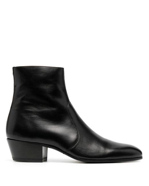 Ботинки Cole На Молнии Saint Laurent для него, цвет: Black