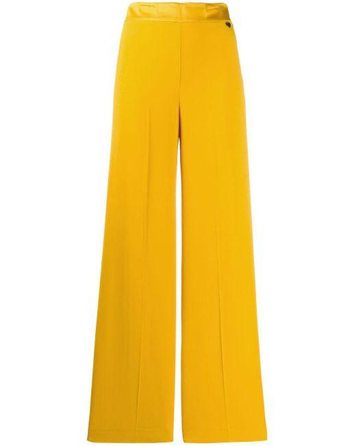 Twin Set ハイウエスト ワイドパンツ Yellow