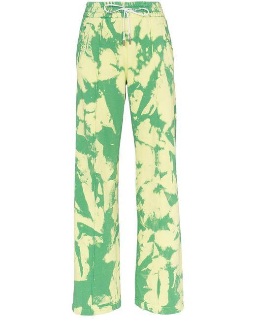 Off-White c/o Virgil Abloh Tie-dye Trousers Green