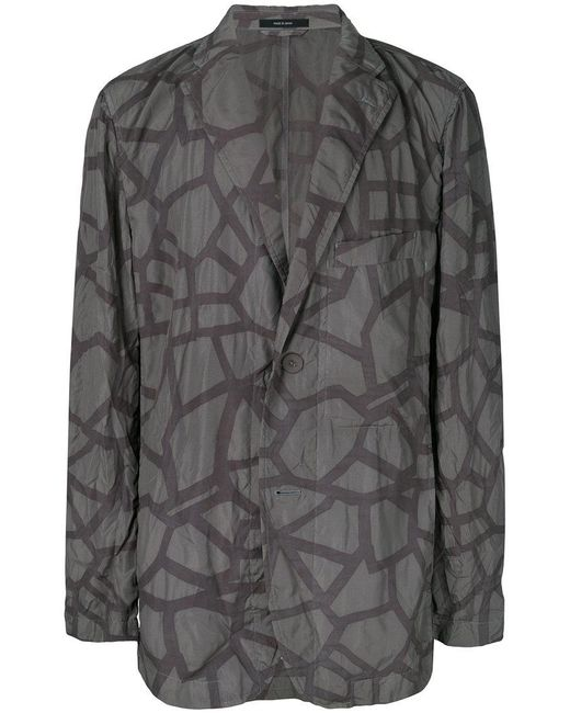 Issey Miyake - Green Abstract Print Jacket for Men - Lyst