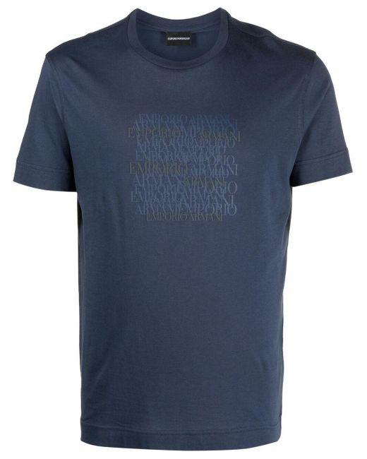 Футболка С Логотипом Emporio Armani для него, цвет: Blue