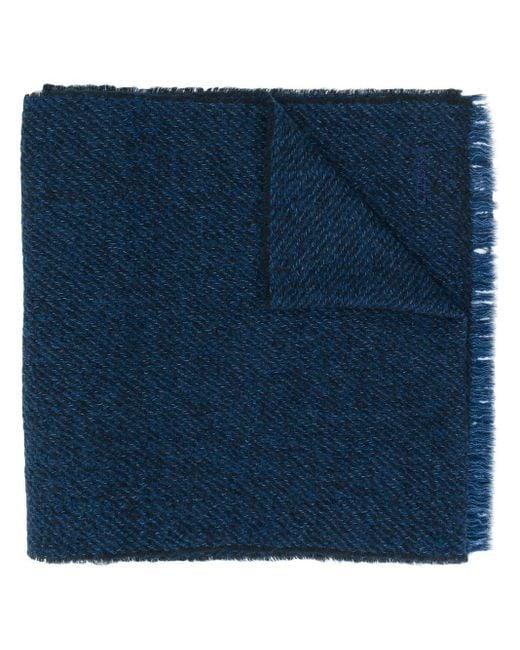 メンズ Z Zegna バイカラースカーフ Blue