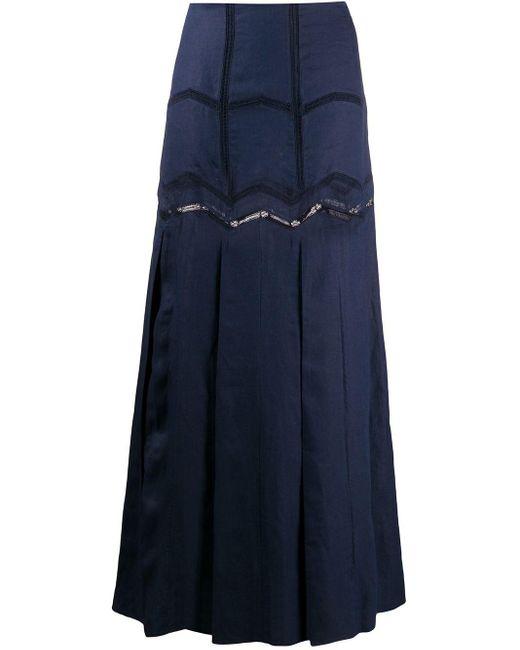 Gabriela Hearst フレアマキシスカート Blue