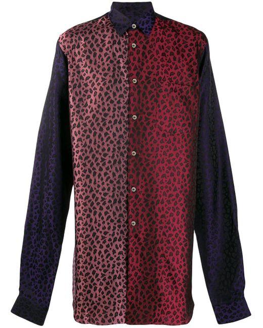 メンズ Comme des Garçons レオパード シャツ Purple