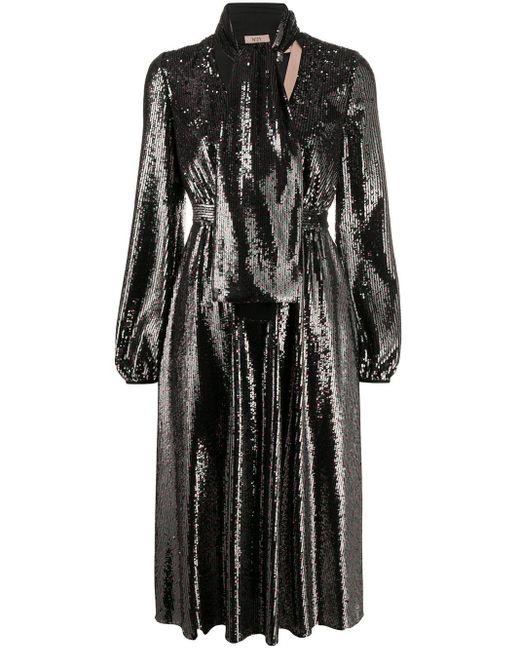 N°21 スパンコール ドレス Black