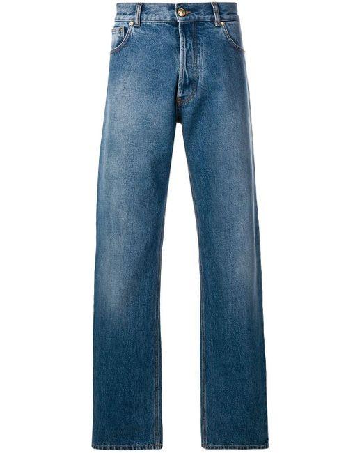 メンズ Versace ストレートジーンズ Blue