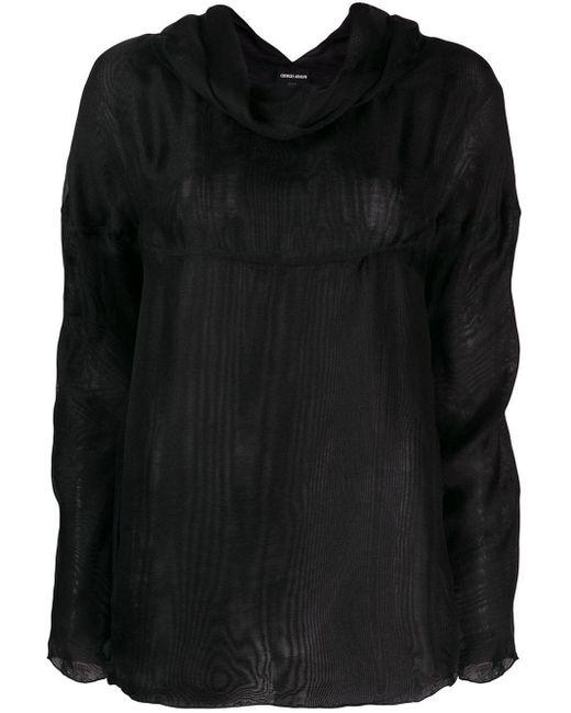 Giorgio Armani Pre-Owned 1990's カウルネック ブラウス Black