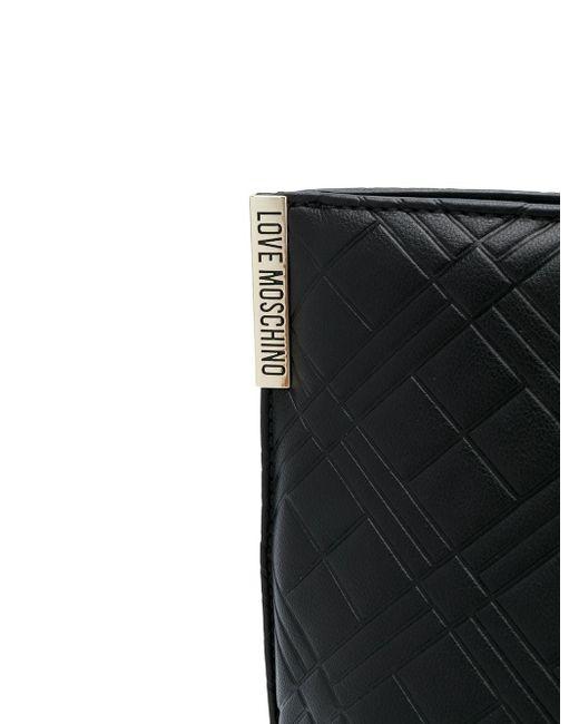 Стеганая Сумка-тоут С Логотипом Love Moschino, цвет: Black
