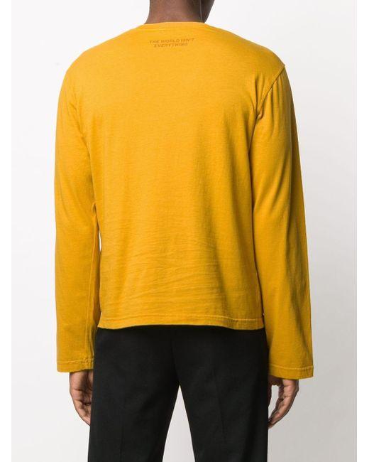 メンズ Telfar グラフィック ロングtシャツ Yellow