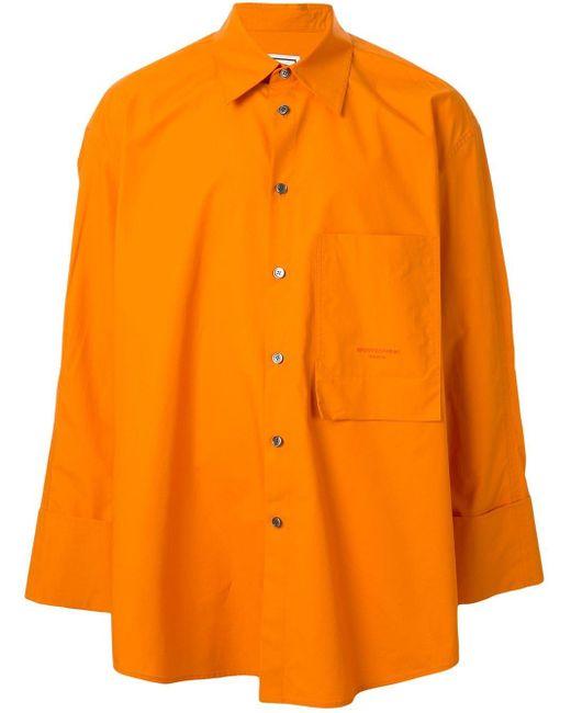 メンズ Wooyoungmi オーバーサイズ シャツ Orange