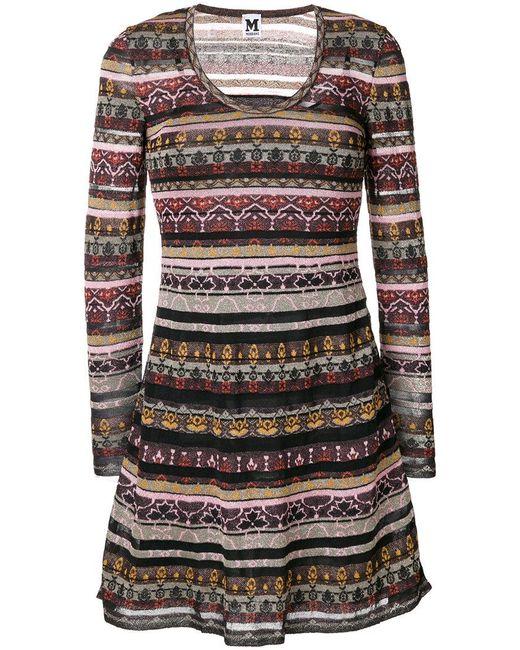 M Missoni   Multicolor Printed Panels Dress   Lyst