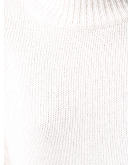 Le Kasha カシミア ハイネックセーター White