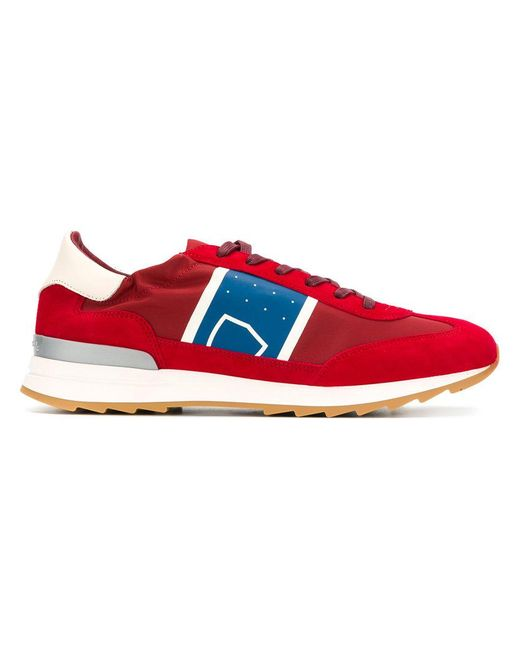 ... Philippe Model | Red Toujours Panelled Sneakers for Men | Lyst ...