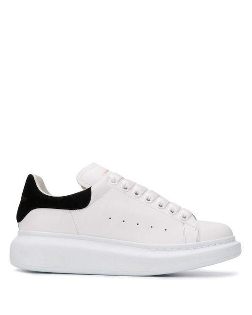 Alexander McQueen White Oversized Sole Sneakers