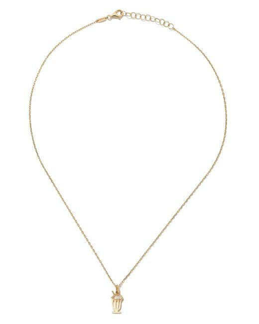 AS29 Milkshake ダイヤモンド ネックレス 14kイエローゴールド Metallic