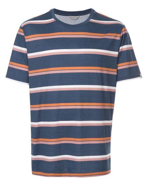 メンズ Gieves & Hawkes ストライプ Tシャツ Blue
