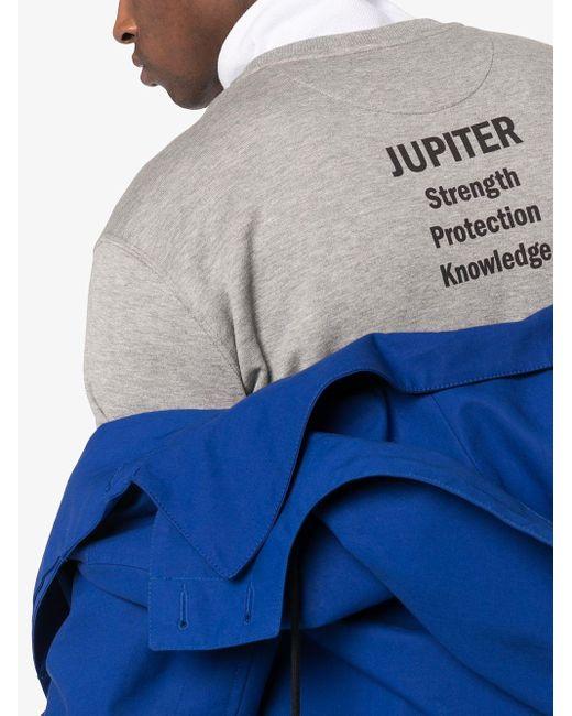 Sudadera Jupiter con logo Valentino de hombre de color Gray