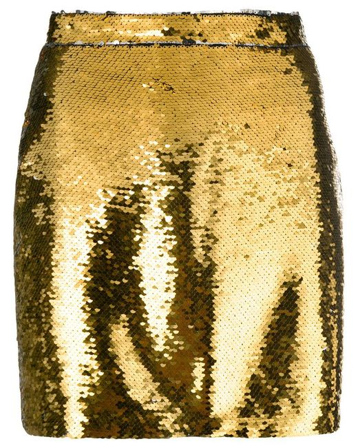 Amen - Metallic Sequin Mini Skirt - Lyst