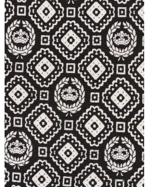 メンズ Dolce & Gabbana ジオメトリックプリント シルクネクタイ Black
