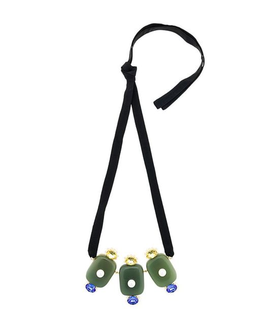 Marni - Multicolor Crystal Pearl Embellished Necklace - Lyst