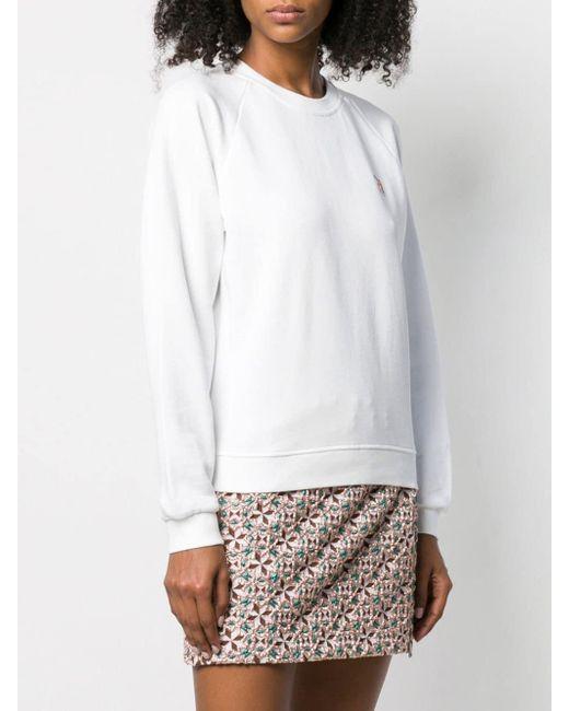 Maison Kitsuné フォックスパッチ スウェットシャツ White