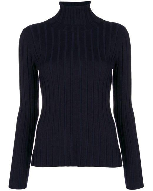 Aspesi リブニット セーター Blue