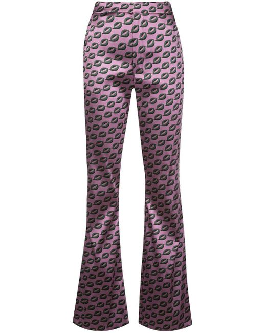 Cynthia Rowley Breslin フレアパンツ Purple