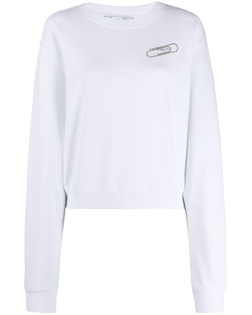 Off-White c/o Virgil Abloh クロップド スウェットシャツ White